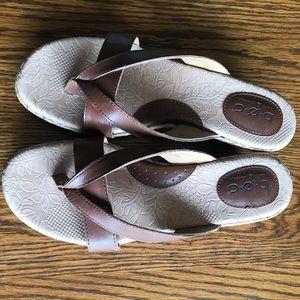 Women's Born BOC Brown Wedge Sandals Size 10